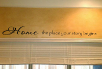 Home Our Story Begins Wall Decal