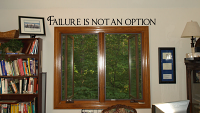 Failure Not Option Wall Decals