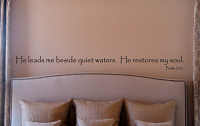 He Leads Me Beside Quiet Waters Wall Decal