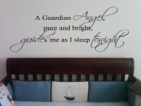 Guardian Angel Guides Me Wall Decal Item