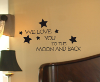 Moon And Back Decal