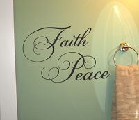 Faith And Peace Cursive Wall Decal