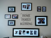Home Family Blessing Wall Decal