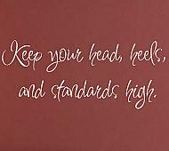 Keep Your Head Heels Standards Wall Decals