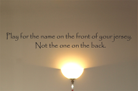 Play For The Name Wall Decal