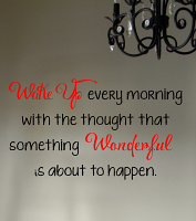 Wake Up Wall Decal