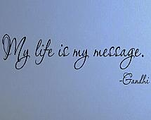 My Life Is My Message Wall Decals