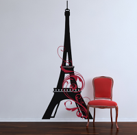 Eiffel Tower Swirl Giant Decal