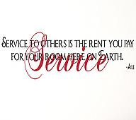 Service To Others Ali Wall Decals