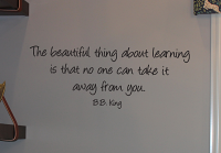 Beautiful Thing About Learning Wall Decals