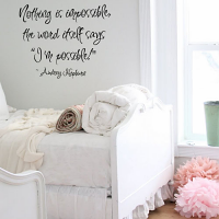 Hepburn Nothing Impossible Wall Decal