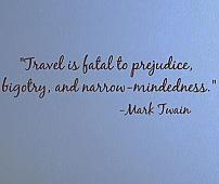 Travel Is Fatal Mark Twain Wall Decals
