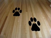 Set of Four Dog Prints Wall Decal