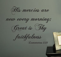 Great Is Thy Faithfulness Wall Decal
