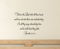 Proverbs 35-6 Wall Decal