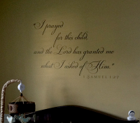 I Prayed For This Child Samuel Wall Decals