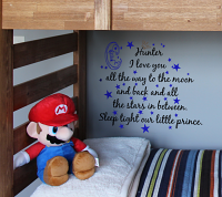 Sleep Tight Our Prince Wall Decal