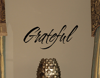 Simply Grateful Wall Decals