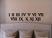 Roman Numerals Wall Decals