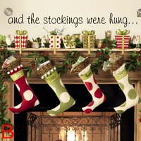 The Stockings Were Hung Wall Decal