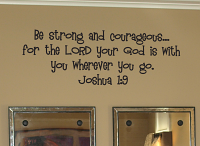 Strong and Courageous Wall Decals