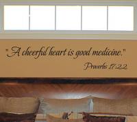 Cheerful Heart Good Medicine Wall Decal