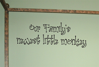 Families Newest Little Monkey Wall Decals