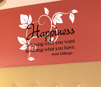 Happiness Wall Decal