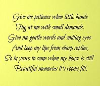 Give Me Patience Wall Decals