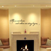 This Is Our Home Wall Decal