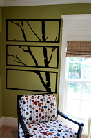 Framed Birch Branch Wall Decal