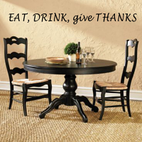 Eat Drink Give Thanks Wall Decal