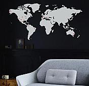 Large Places We've Been Map Wall Decal