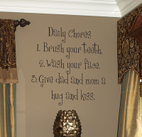 Chore List Wall Decal