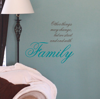 Begin And End With Family Wall Decal