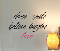 Cherish Inspire Words Wall Decal