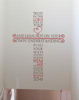 Proverbs Cross Wall Decal
