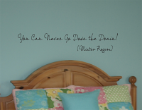Never Go Down Drain Wall Decals