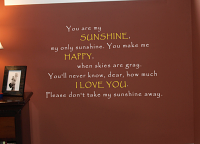 My Only Sunshine Wall Decal