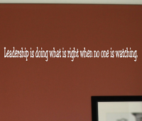 Leadership Doing Whats Right Wall Decals