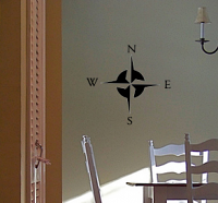 Simple Compass Wall Decal