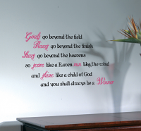 Always Be A Winner Wall Decals