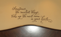 Smallest Things Wall Decals