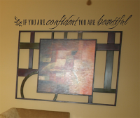 Confident Beautiful Wall Decals