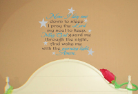 Now I Lay Me Stars Wall Decals