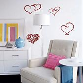Heart Pack II Wall Decal