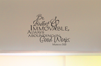 Be Steadfast Immovable Wall Decal