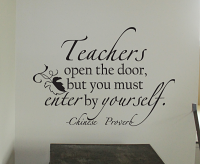 Teachers Open The Door Wall Decals