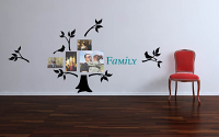 Family Photo Tree 5 With Leaves on The Branches Wall Decal
