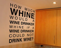 Whine Drinker Wall Decal